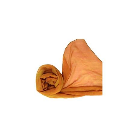 雙皺紗洋蔥皮,茜染圍巾_文創藝術品